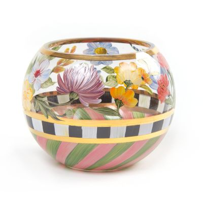 Flower Market Glass Globe Vase - Medium