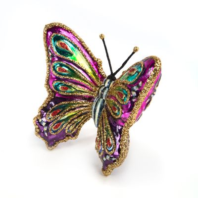 Glass Ornament - Bijou Butterfly Clip
