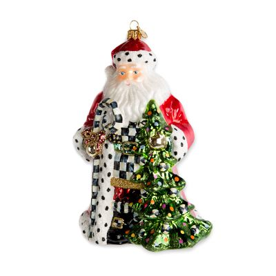 Glass Ornament - Tree Farm Santa