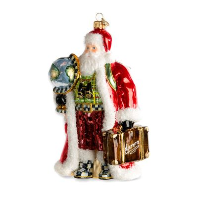 Glass Ornament - Globetrotter Santa