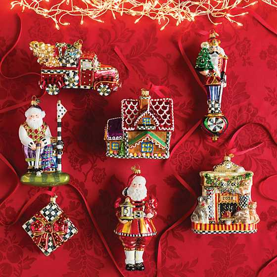 Glass Ornament - On Guard Nutcracker