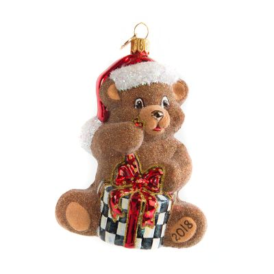 Glass Ornament - Ted the Bear