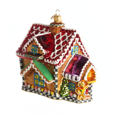 Glass Ornament - Gingerbread Chalet