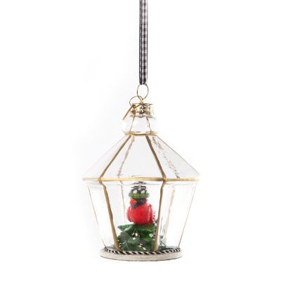 Happy Holidays Cardinal Cloche Ornament