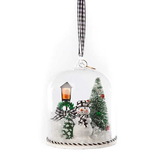 Happy Holidays Snowman Cloche Ornament