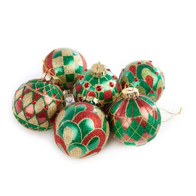 Aberdeen Glass Ball Ornaments - Set of 6