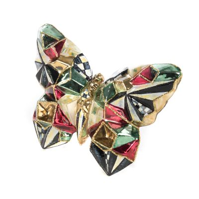 Glass Ornament - Cubist Butterfly Clip