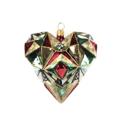 Glass Ornament - Cubist Heart