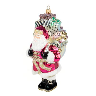 Glass Ornament - Gift-Giving Santa