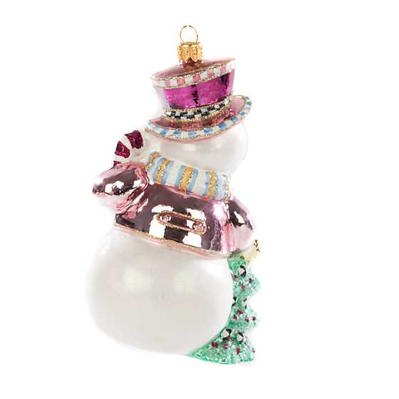 Glass Ornament - Home Sweet Snowman image three