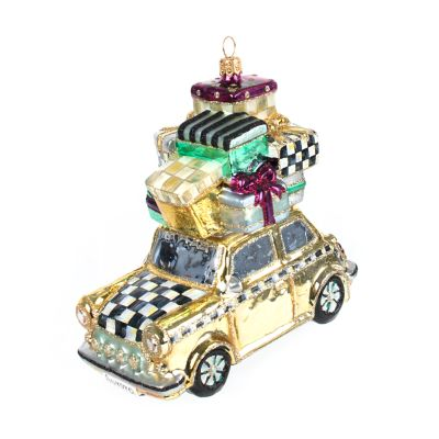 Glass Ornament - Home for the Holidays - Gold