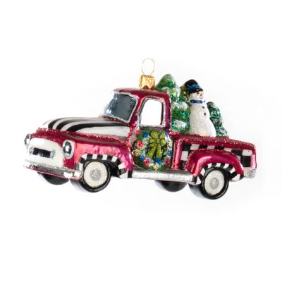Glass Ornament - Tree Farm Truck