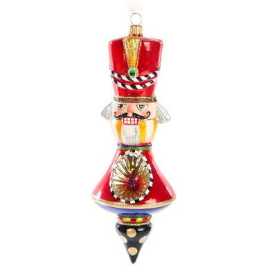 Glass Ornament - Nutcracker Reflector - Red