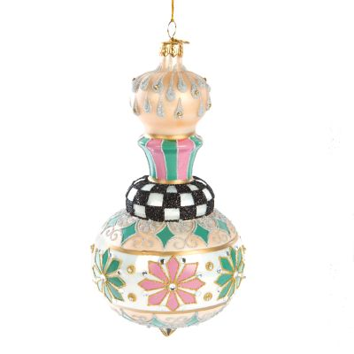 Home Sweet Snow Glass Ornament - Cupola