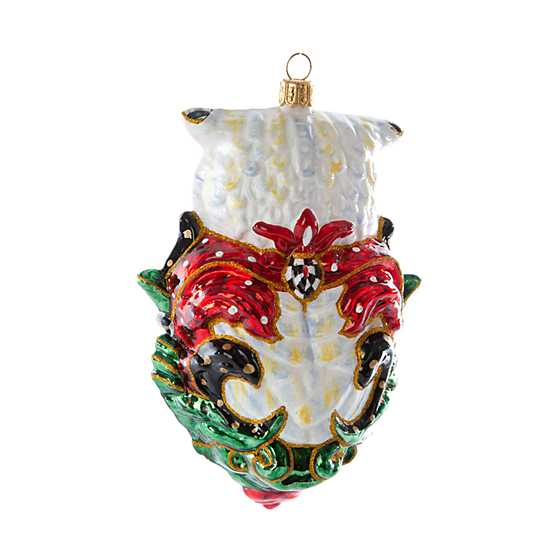 Glass Ornament - Jolly Owl image three