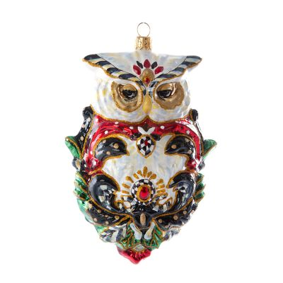 Glass Ornament - Jolly Owl