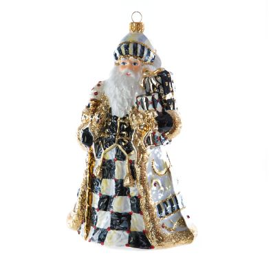 Glass Ornament - Golden Hour Filigree Santa