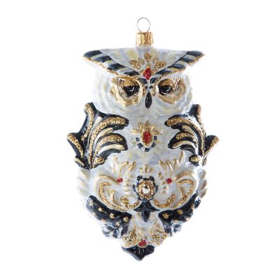 Glass Ornament - Golden Hour Filigree Owl