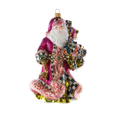 Glass Ornament - Paradise Santa