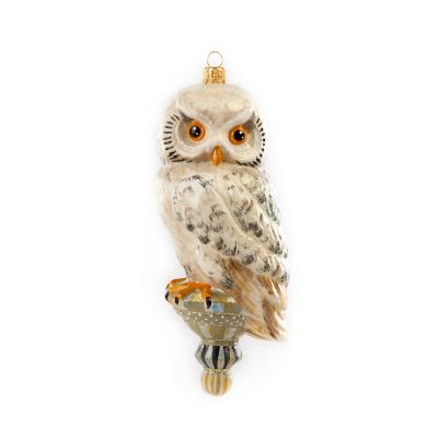 Glass Ornament - Golden Hour Snowy Owl