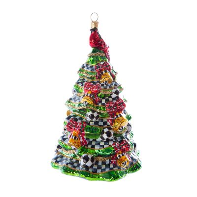 Glass Ornament - Happy Holidays Tree
