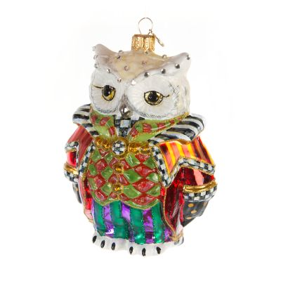 Glass Ornament - Wise Owl