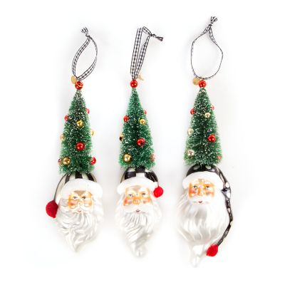 Santa Tree Ornaments - Set of 3