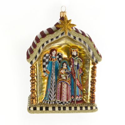 Glass Ornament - Holy Family