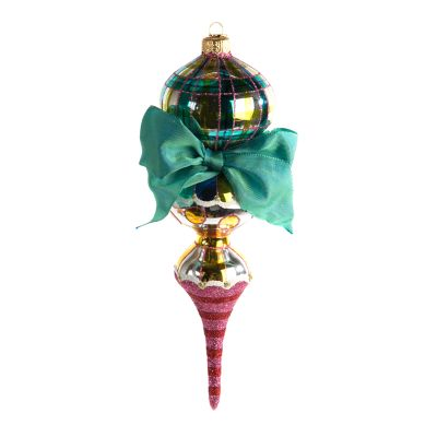 Glass Drop Ornament - Bijou Triple Drop