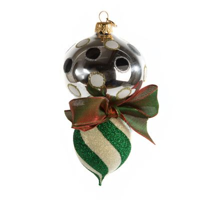 Glass Drop Ornament - Savoy Holiday Double Drop
