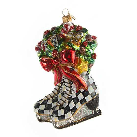 MacKenzie-Childs | Glass Ornament - Winter Skates