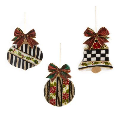 Holly Cut-Out Ornaments - Set of 3