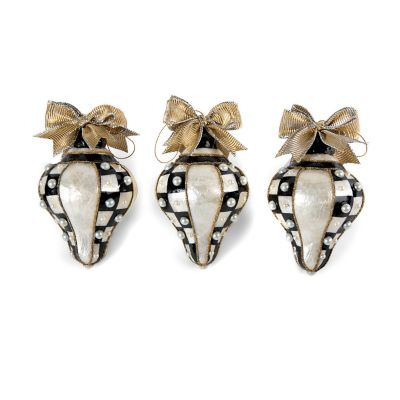 Teardrop Pearl Ornaments - Set of 3