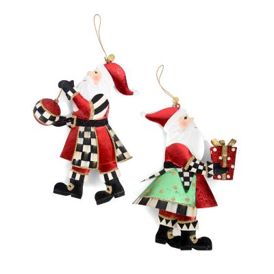 Gift-Giving Santa Ornaments - Set of 2
