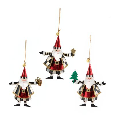 Look Who's Coming to Town Ornaments - Set of 3