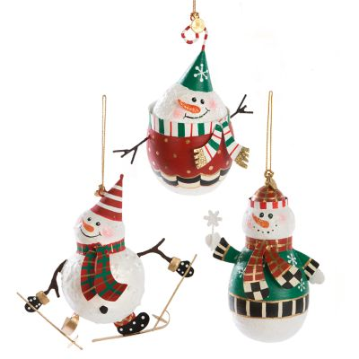 Snowman Ornaments - Set of 3