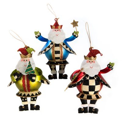 Jolly St. Nick Ornaments - Set of 3