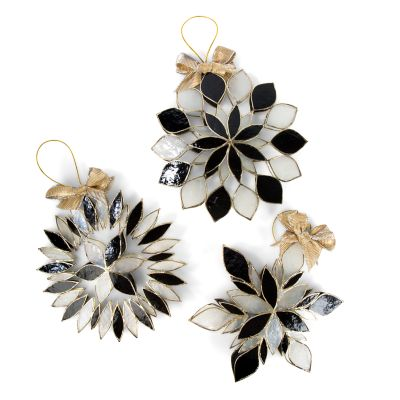 Falling Snowflake Ornaments - Set of 3
