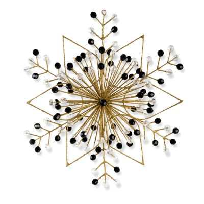 Gold Snowflake Ornament - Large