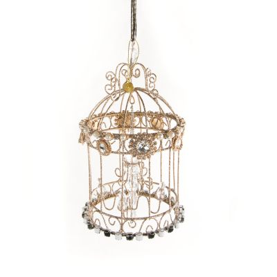 Jeweled Ornament - Birdcage Chandelier