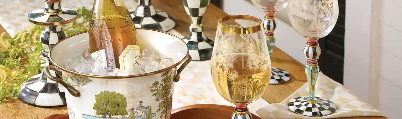 Blooming Wine Glass Banner Image