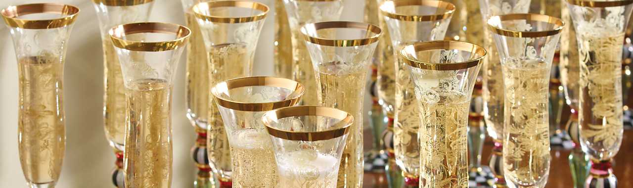 Blooming Champagne Flute Banner Image
