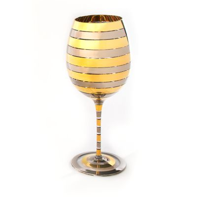 Golden Hour Red Wine Glass