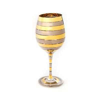 Golden Hour White Wine Glass
