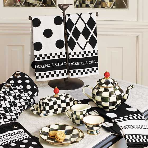 Black & White Dot Dish Towels - Set of 3 image four