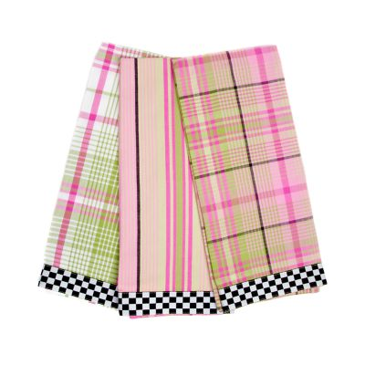 Spring Tartan Dish Towels - Set of 3