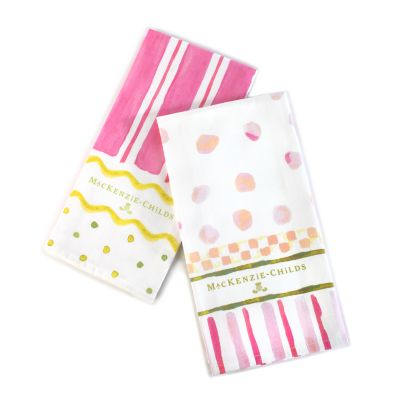 Easter Stripe & Dot Dish Towels - Set of 2