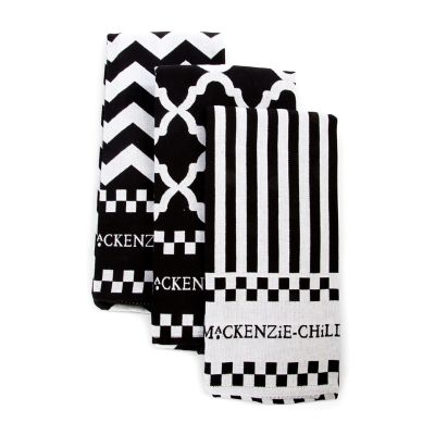 Black & White Zig Zag Dish Towels - Set of 3