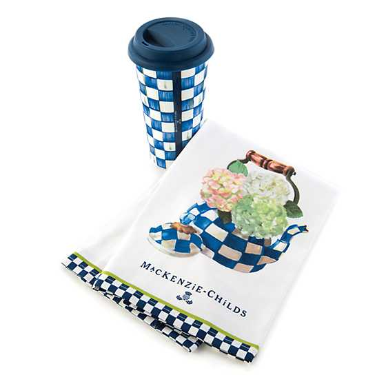 Hydrangea Tea Kettle Dish Towel image three