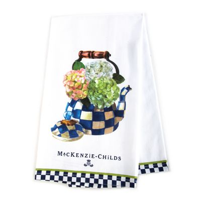 Image for Hydrangea Tea Kettle Dish Towel